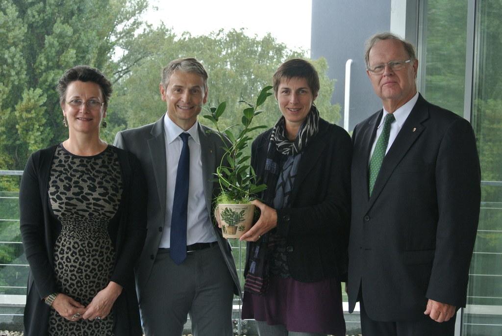 Mag. Claudia Jindra-Feichtner, Ing. Mag. Dr. Adalbert Lindner, Landeshauptmann-S..