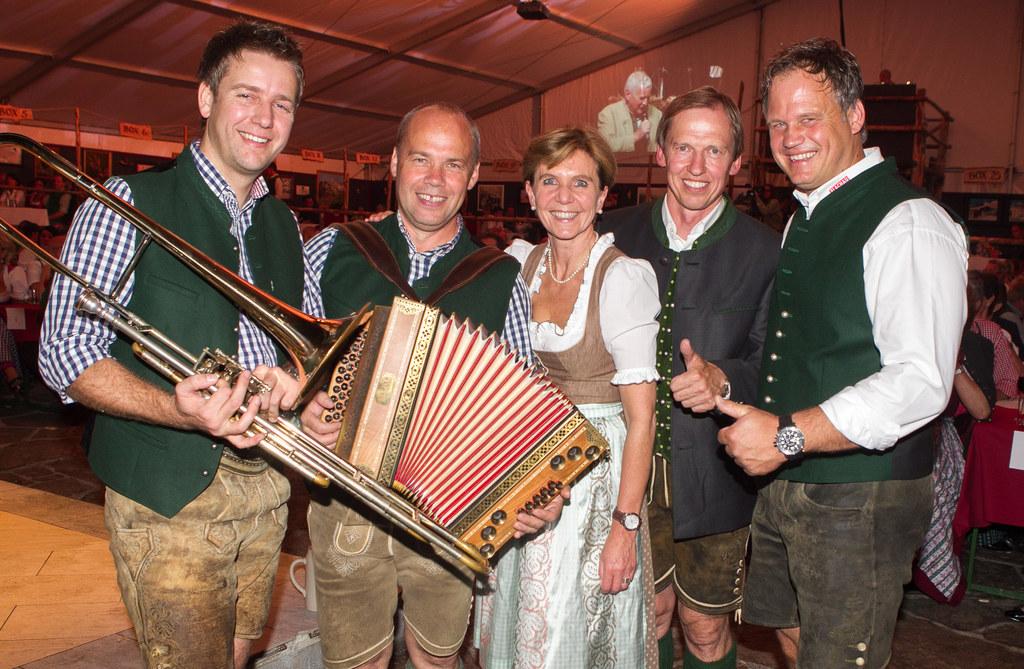 Chris Sparber (Mitglied Folksmusik Gruppe Flachau), Toni Leitn (Volksmusikbeauft..