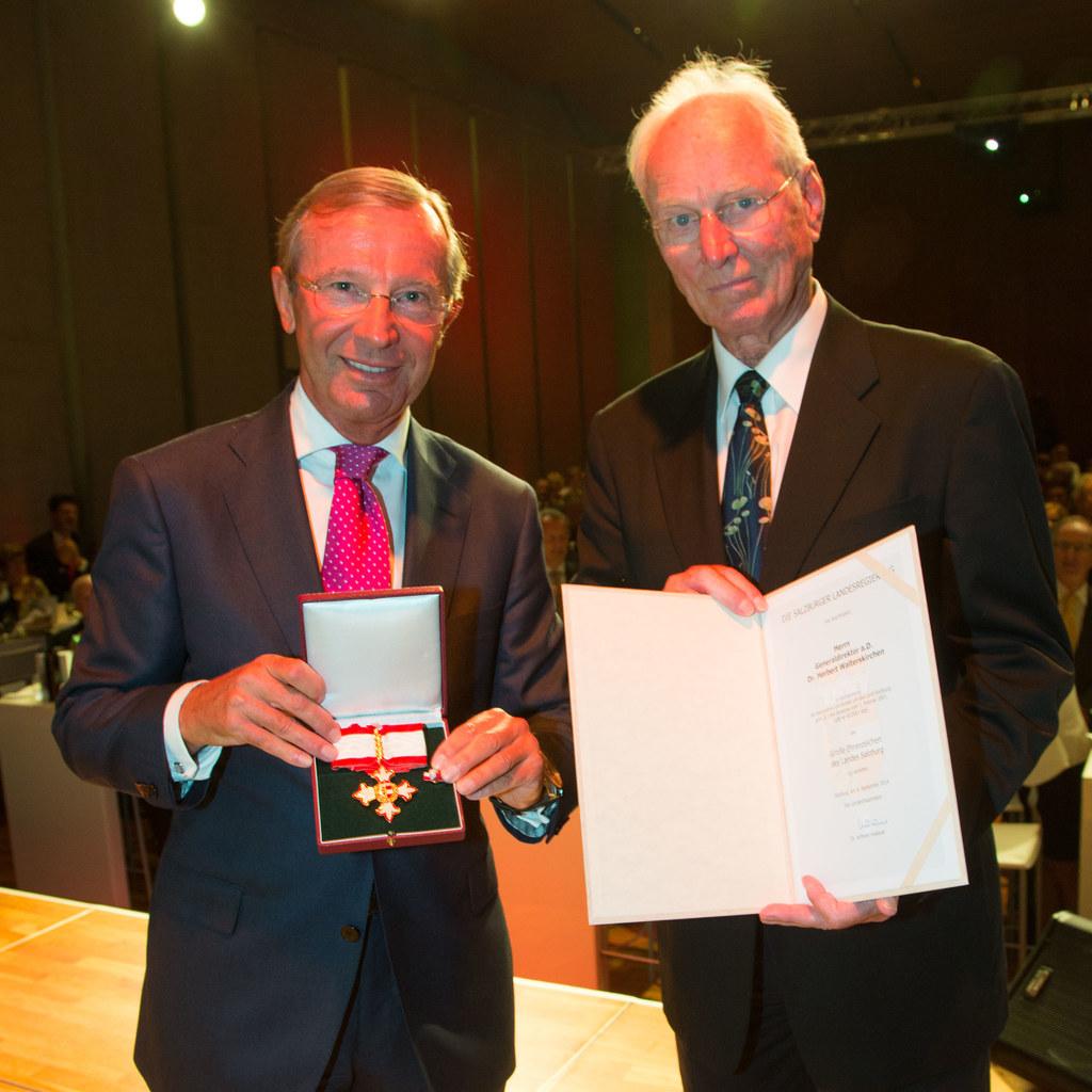Landeshauptmann Dr. Wilfried Haslauer und Dr. Herbert Walterskirchen