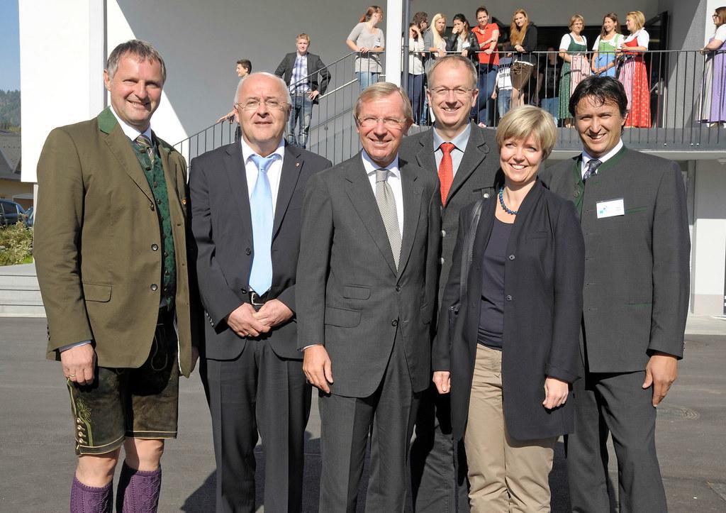 Bgm Georg Gappmayer (Tamsweg), Referatsleiter Mag. Thomas König, LH Dr. Wilfried..