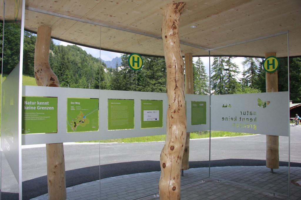 Infopavillion am Hirschbichl in Weißbach