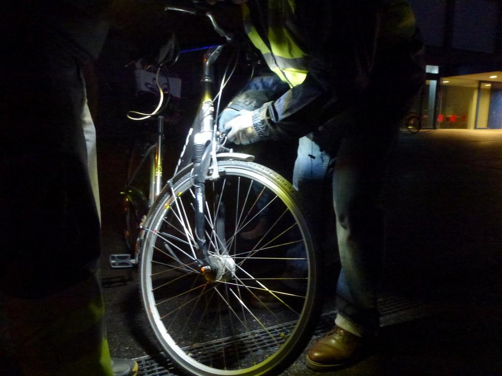 Rad-Licht-Aktion mit Reparaturservice