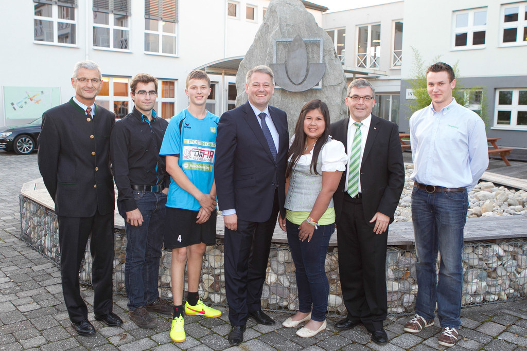 Direktor Josef Wimmer, Martin Nagl, Johannes Moser, Bundesminister Dipl.-Ing. An..