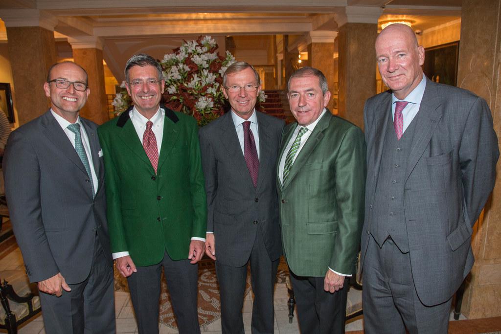 Konsul Clemens Chwoyka, Doyen Norman Dick, Landeshauptmann Dr. Wilfried Haslauer..