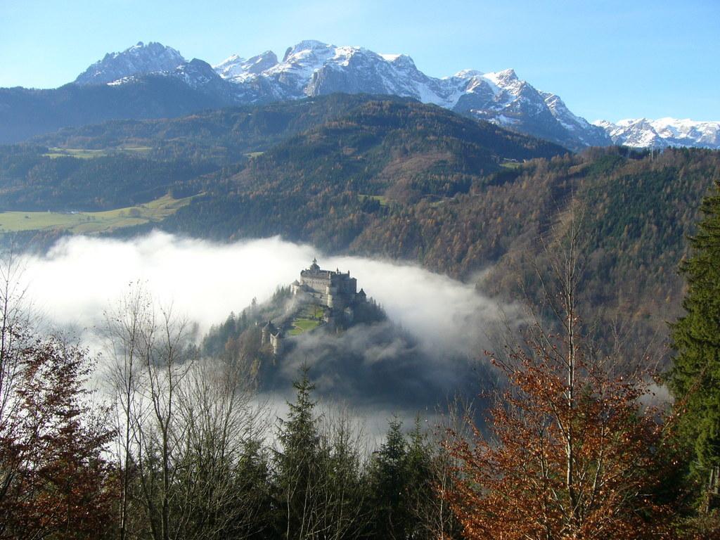 Burg Hohenwerfen im Jahresausklang