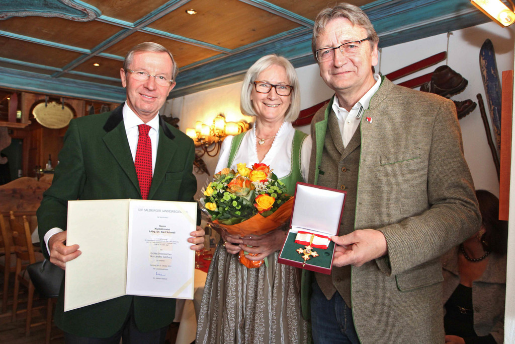 Landeshauptmann Dr. Wilfried Haslauer, Christine und Karl Schnell