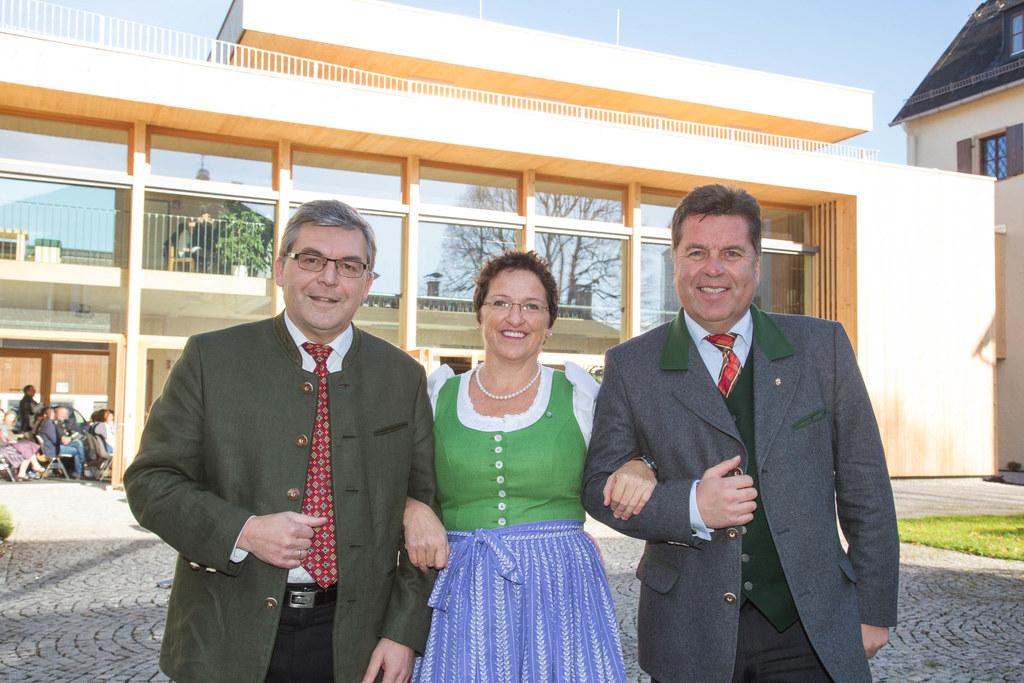 Landesrat DI Dr. Josef Schwaiger, Direktorin DI Andrea Altenberger und Landesrat..