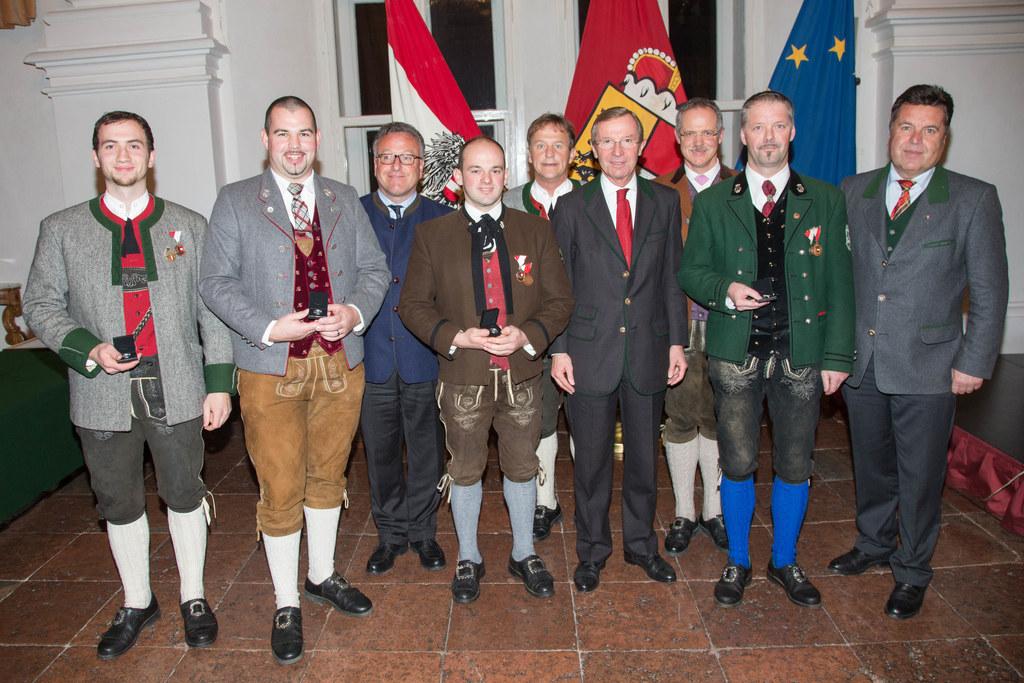 Landesrat Dr. Heinrich Schellhorn,  Landeshauptmann Dr. Wilfried Haslauer und La..