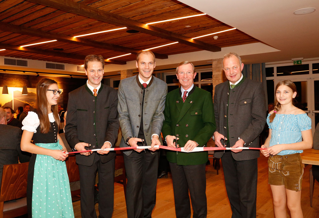 Rupert Walchhofer, Michael Walchhofer, LH Dr. Wilfried Haslauer und Bgm. Rupert ..