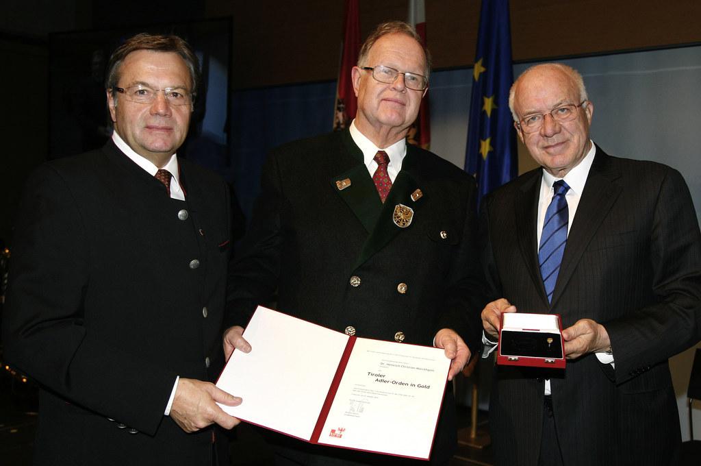 Landeshauptmann Günther Platter, Landesamtsdirektor Dr. Heinrich Christian Marck..
