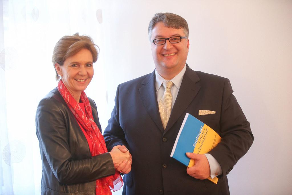 Landtagspräsidentin Dr. Brigitta Pallauf und Mag. Ludwig F. Hillinger