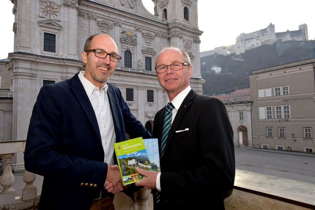 Rekordjahr der Salzburger Burgen und Schlösser. Im Bild v.l.: Mag. Maximilian Br..