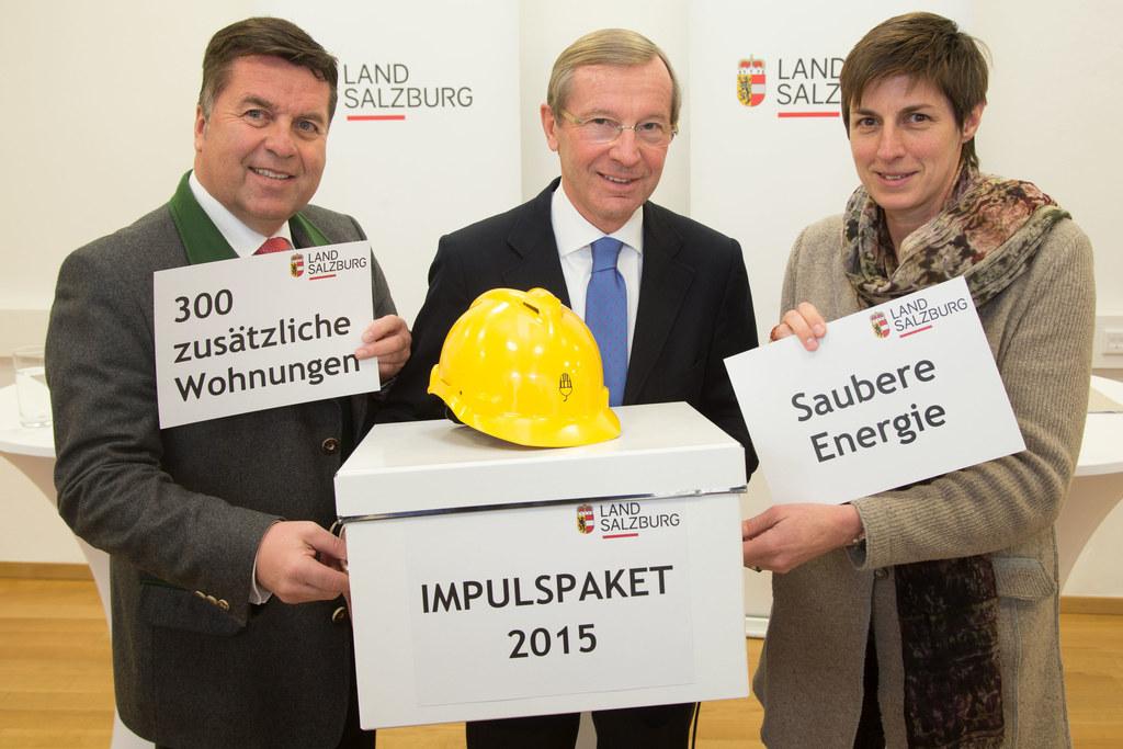 Landesrat Hans Mayr,  Landeshauptmann Dr. Wilfried Haslauer und Landeshauptmann-..