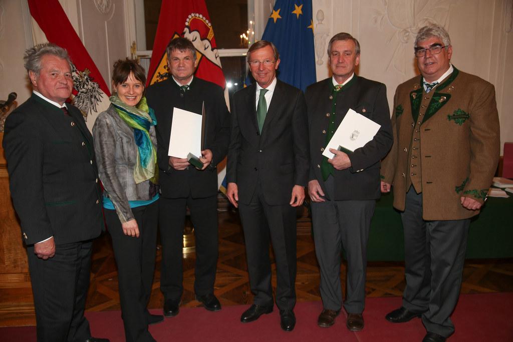 Landeshauptmann Dr. Wilfried Haslauer und Landesrätin Mag. Martina Berthold mit ..