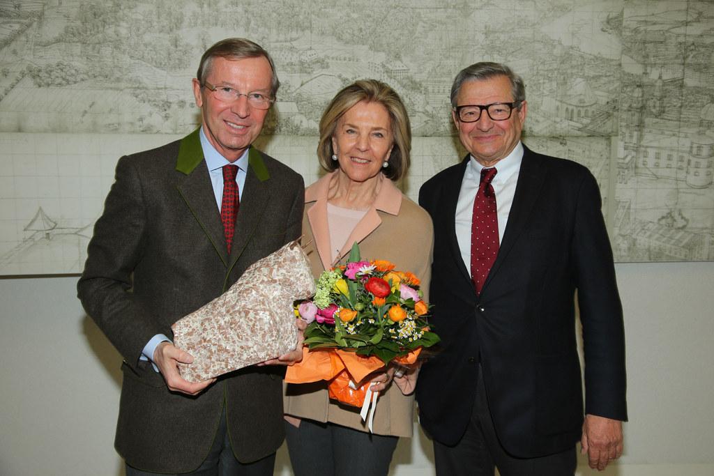 LH Dr. Wilfried Haslauer, Eva Spängler (Gattin) und KR Heinrich Spängler
