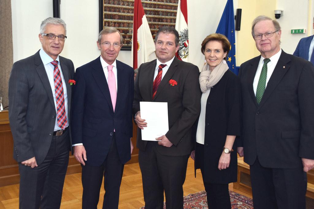 LAbg. Walter Steidl, Landeshauptmann Dr. Wilfried Haslauer, Gerd Brand, Landtags..