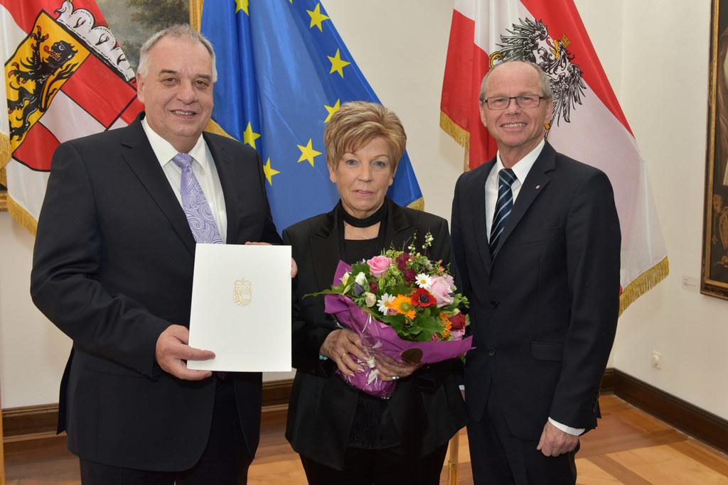 Gerd Brusius, Gattin Ellen Brusius und Landeshauptmann-Stellvertreter Mag. Dr. C..