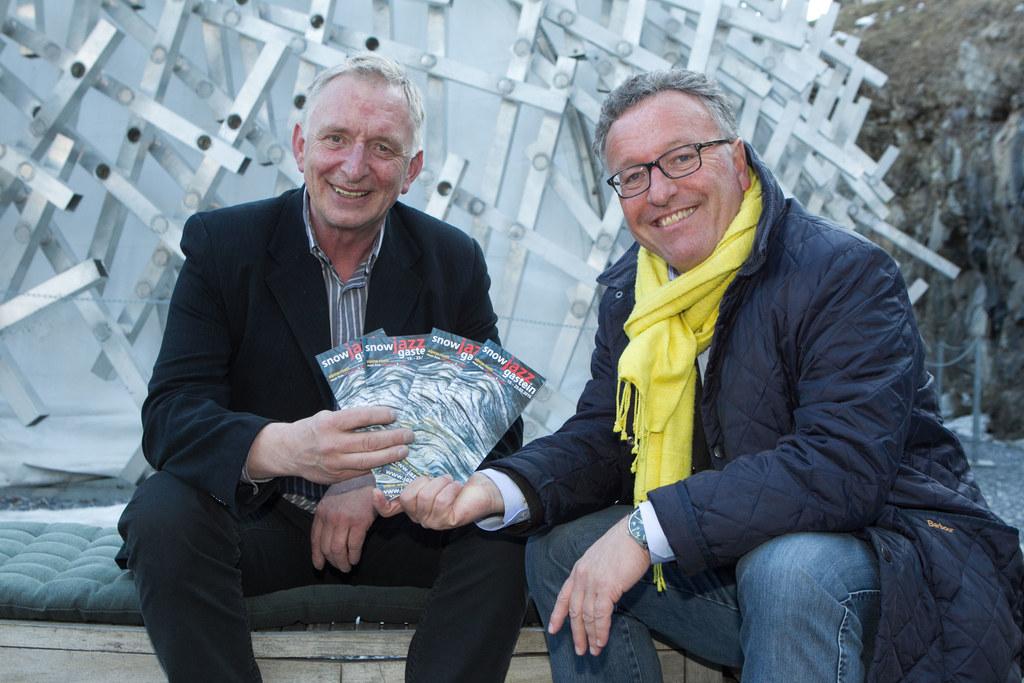 Sepp Grabmaier (Festivalleiter Snow Jazz) und Landesrat Dr. Heinrich Schellhorn