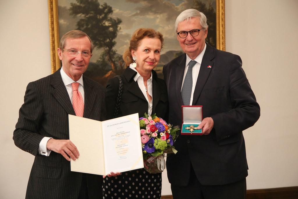 Landeshauptmann Dr. Wilfried Haslauer, Dr. Elisabeth Hintner und Univ.-Prof. Pri..