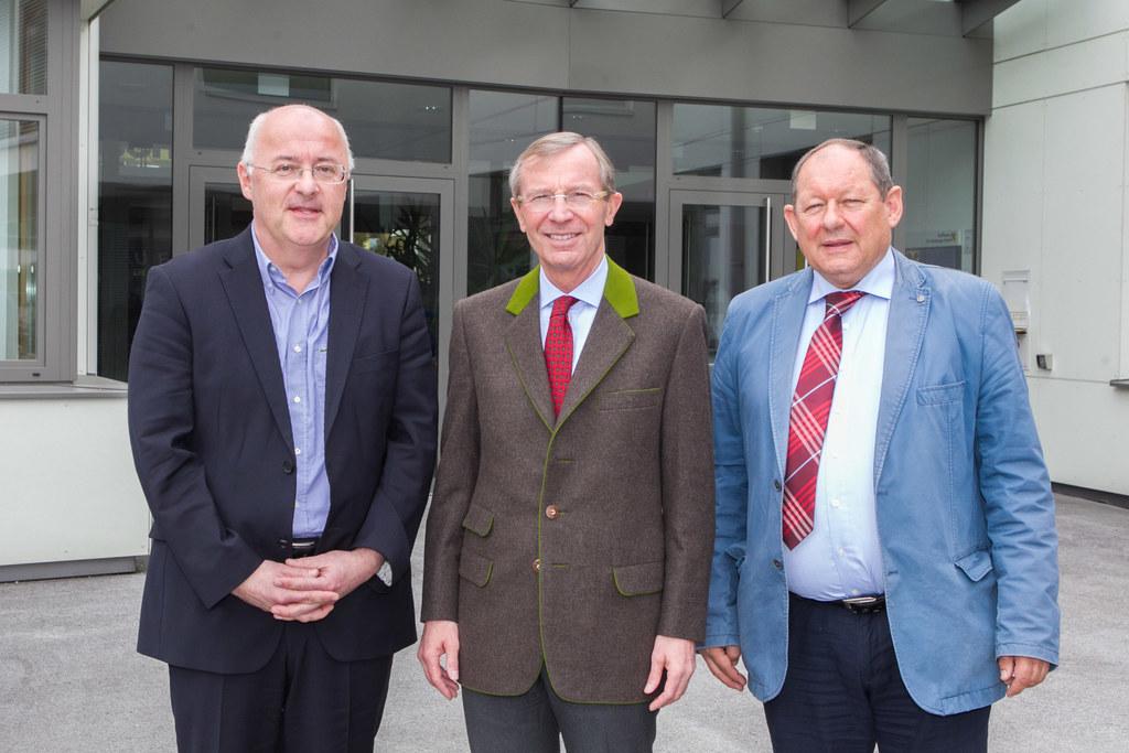 Thomas König, Landeshauptmann Dr. Wilfried Haslauer und Dir. Manfred Panholzer