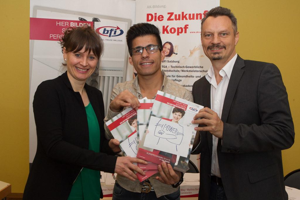 Landesrätin Mag. Martina Berthold, Rustai Tohidollah und Mag. Werner Pichler ( P..
