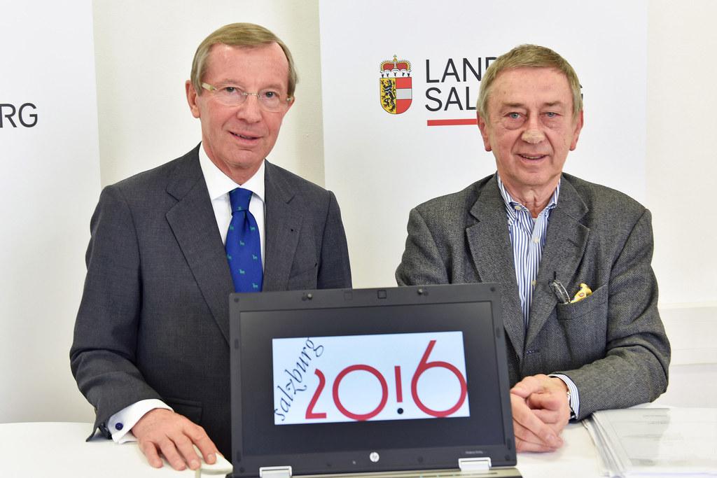 Landeshauptmann Dr. Wilfried Haslauer und Ing. Friedrich Urban, Geschäftsführer ..