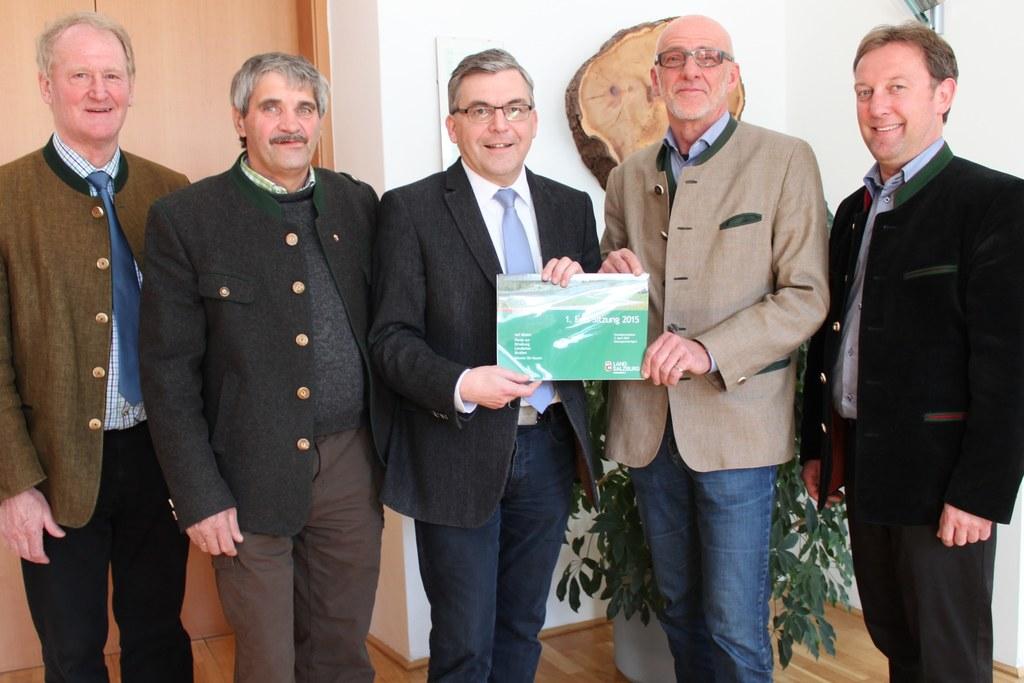 LAbg. Ernst Rothenwänder, Obm. Bgm. Josef Schwarzenbacher, Landesrat DI Dr. Jose..