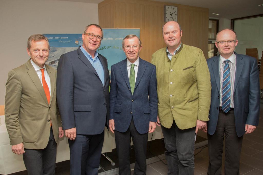 Hans Scharfetter, Wolfgang Kleemann, Landeshauptmann Dr. Wilfried Haslauer, Bgm...