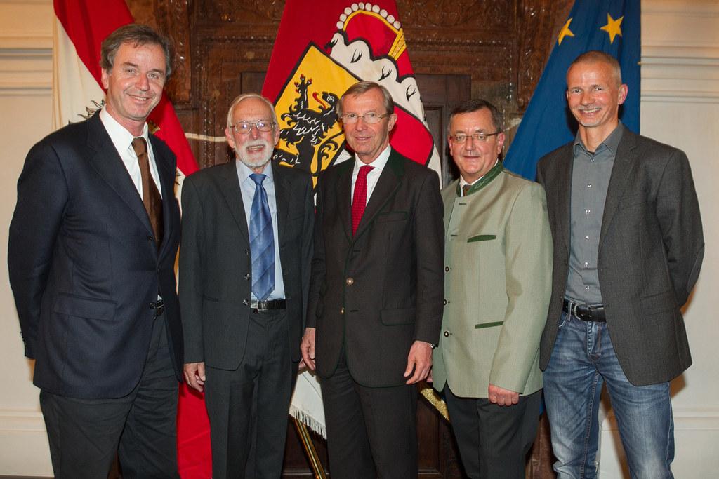 Prof. Dr. Michael Staudinger, Prof. Dr. Werner Maringer, LH Dr. Wilfried Haslaue..