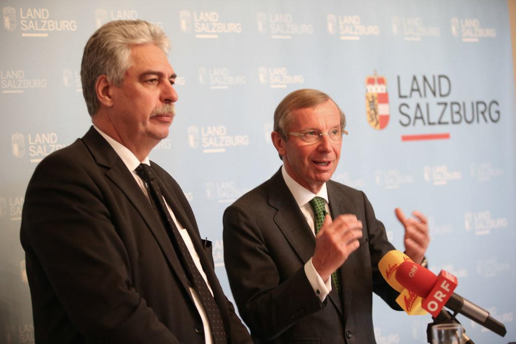 Finanzminister Dr. Hans Jörg Schelling und Landeshauptmann Dr. Wilfried Haslauer