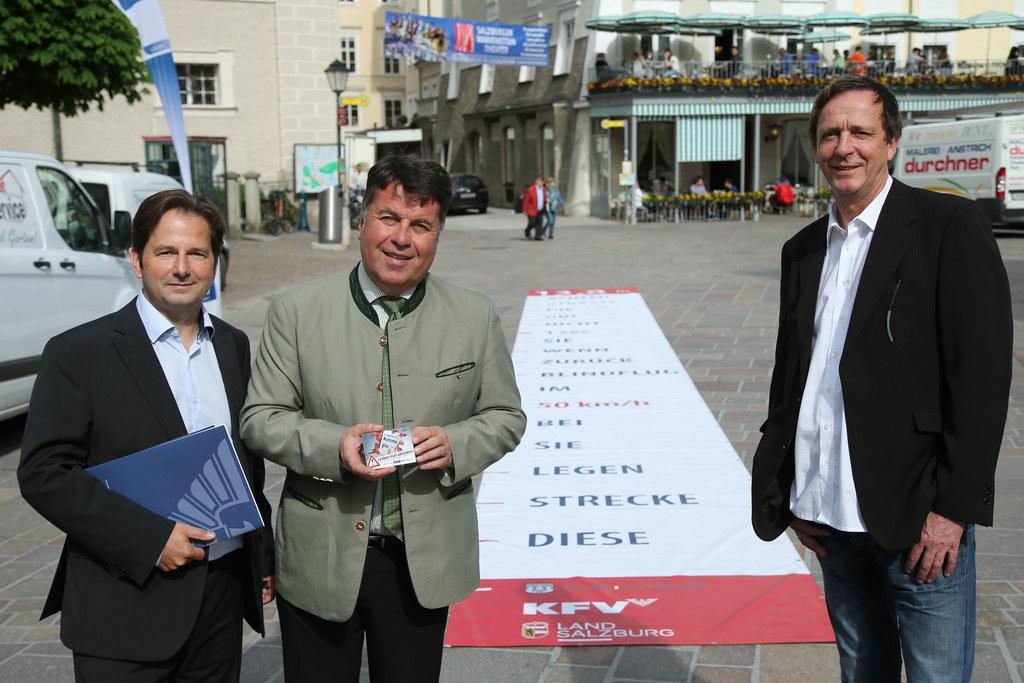 Mag. Martin Pfanner KFV (Kuratorium für Verkehrssicherheit), LR Hans Mayr und St..