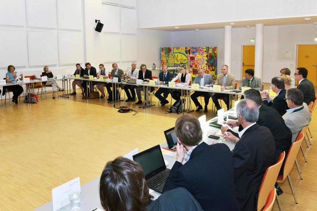 Landeshauptmann Dr. Wilfried Haslauer, Bürgermeister Dr. Heinz Schaden, Landesra..