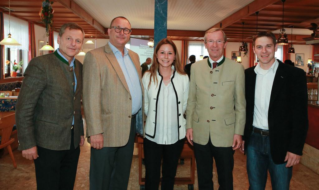 Im Bild: v.l.: Hans Scharfetter, Wolfgang Kleemann, Alexandra Fankhauser, LH Wil..