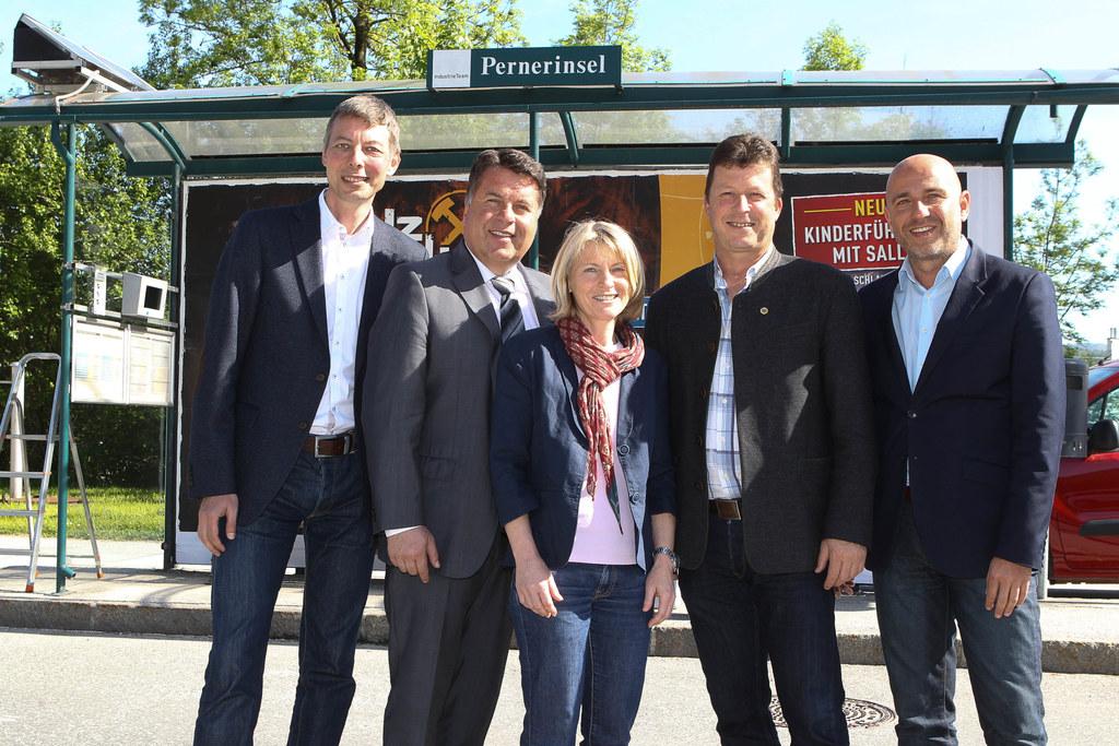 Im Bild v.l.: Christian Steiner, Landesrat Hans Mayr, Michaela Gadermayr, Andrea..