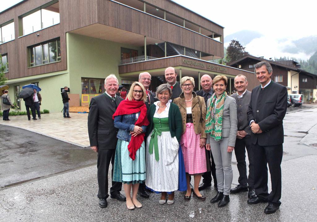 Bürgermeister St. Martin bei Lofer Josef Leitinger, Kindergarteninspektorin Mag...