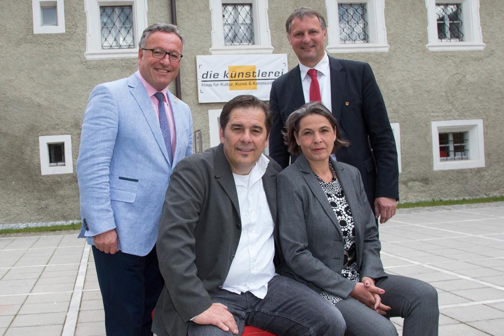 Landesrat Dr. Heinrich Schellhorn, Robert Wimmer, Elisabeth Strauß und Bgm. Geor..