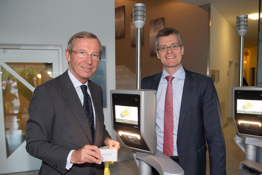 Landeshauptmann Dr. Wilfried Haslauer und Hugo Rohner