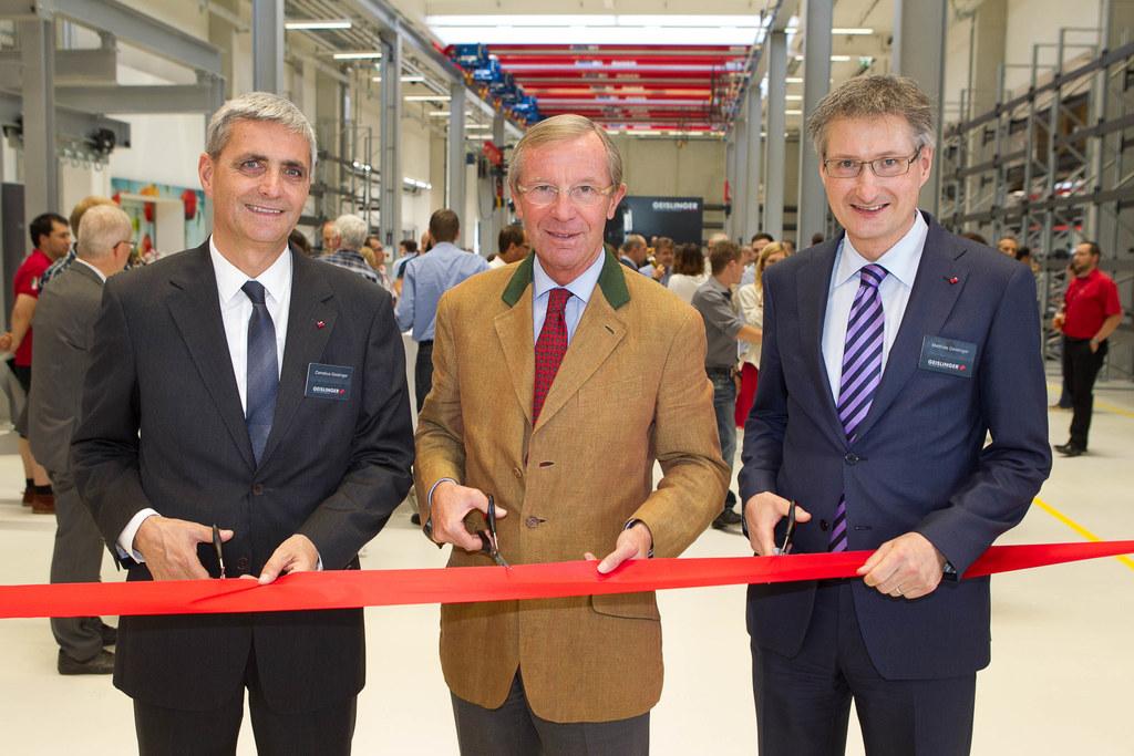 Cornelius Geislinger, LH Dr. Wilfried Haslauer und Matthias Geislinger