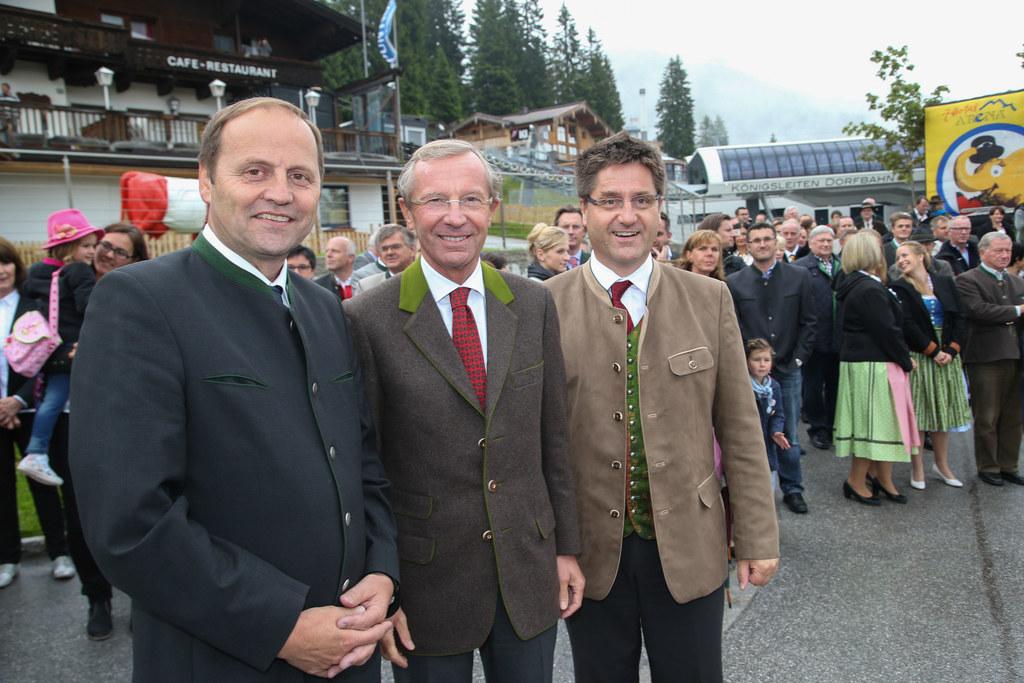 Landeshauptmannstellvertreter Tirol Josef Geisler, Landeshauptamnn Dr. Wilfried ..
