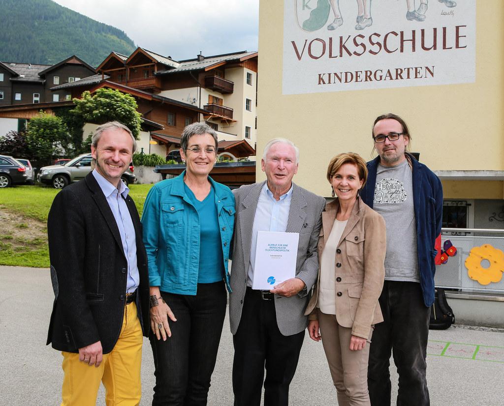 Bgm. Erich Czerny , Ulrike Lunacek (EU-Parlament) , Ernst Löschner (Initiator un..
