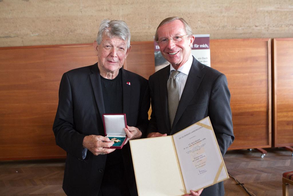 Bischof Erwin Kräutler und LH Dr Wilfried Haslauer