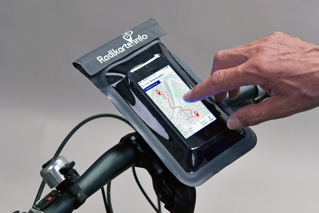 Radl-App mit eingebautem Regenradar