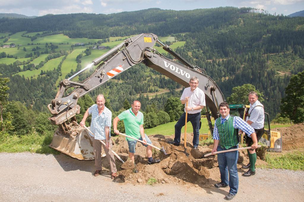 Johann Brugger, Hans Pfeiffenberger, Landesrat Dr. Josef Schwaiger, Hannes Primo..