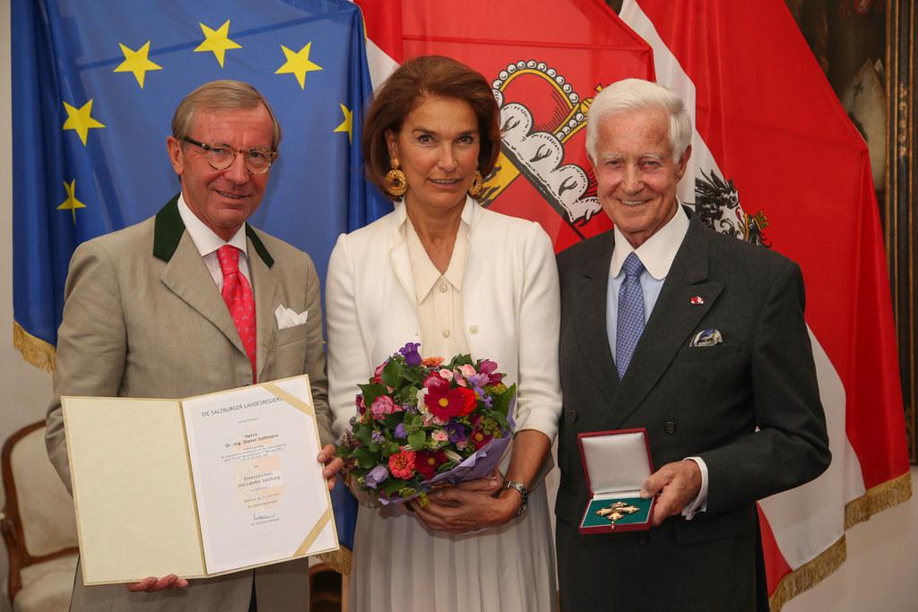 Landeshauptmann Dr. Wilfried Haslauer, Ursula Soltmann und Ing. Dr. Dieter Soltm..