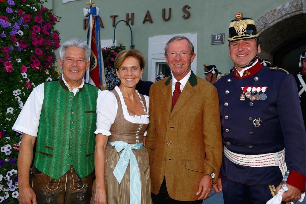 Bgm. Sepp Tagwercher, Landtagspräsidentin Dr. Brigitta Ballauf,  Landeshauptmann..