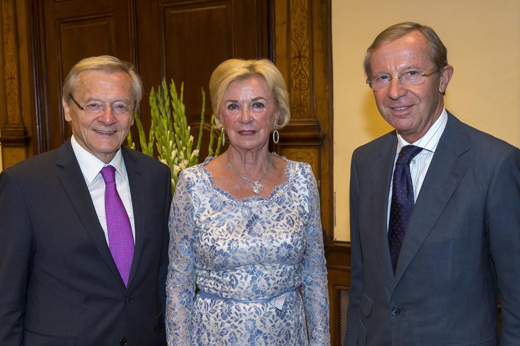 Dr. Wolfgang Schüssel, Liz Mohn und Landeshauptmann Dr. Wilfried Haslauer