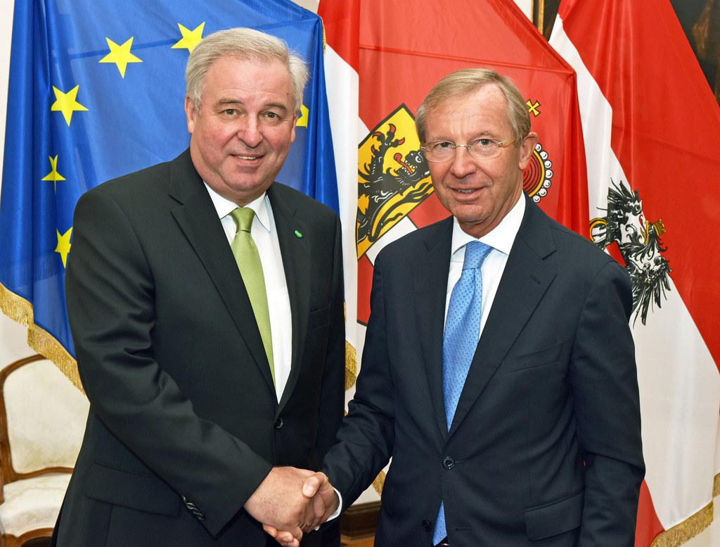 Landeshauptmann Hermann Schützenhöfer und Landeshauptmann Dr. Wilfried Haslauer