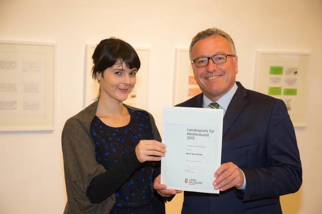 Maria Morschitzky und Landesrat Dr. Heinrich Schellhorn