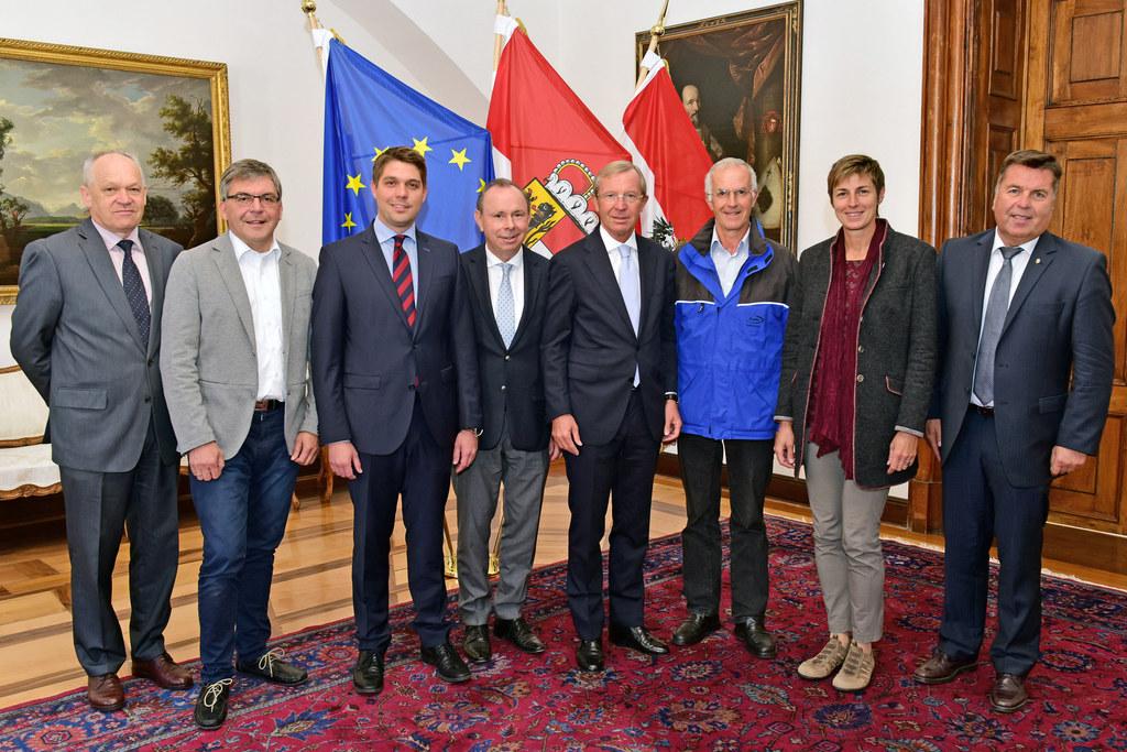 BH Mag. Reinhold Mayer, LR Dipl.-Ing. Dr. Josef Schwaiger, Landrat Siegfried Wal..