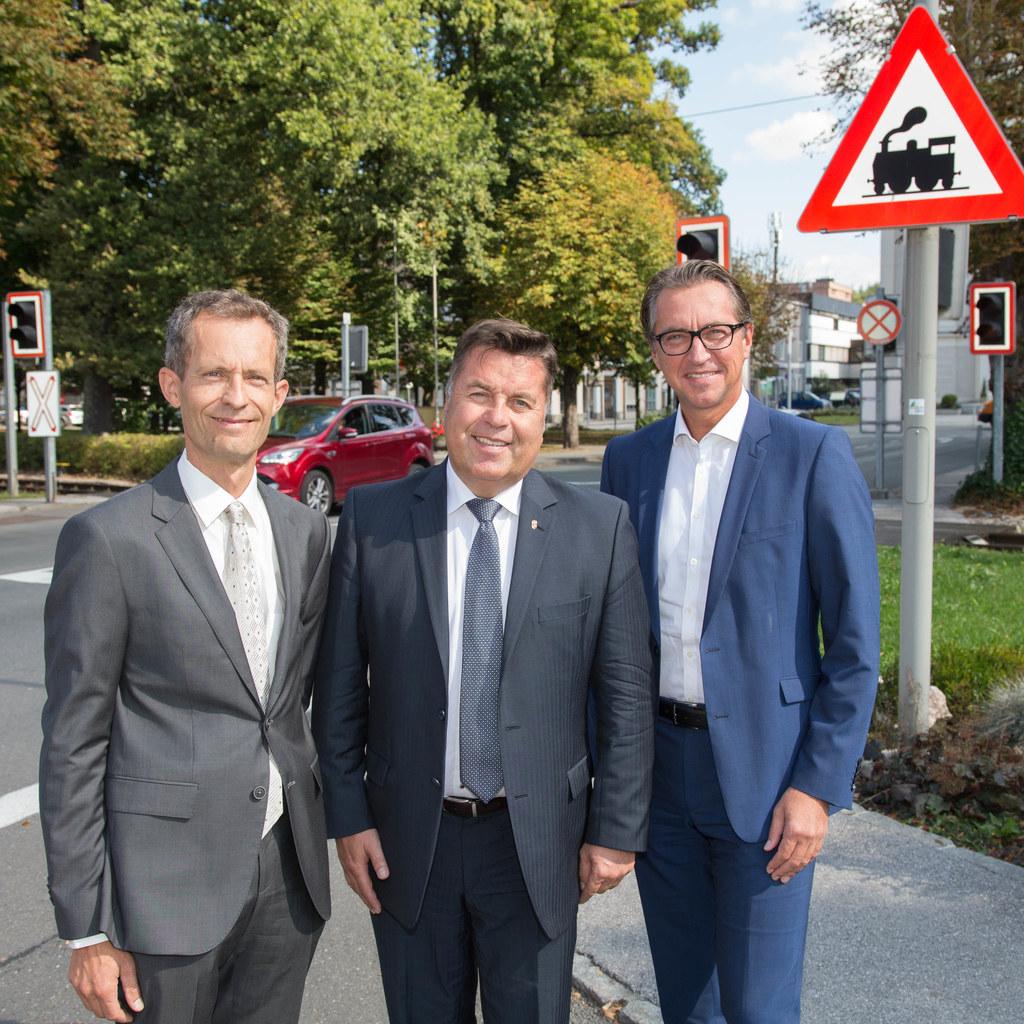 Thomas Bachleitner, Landesrat Hans Mayr und Leo Schitter